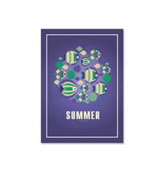summer tropical banner template trendy seasonal vector image