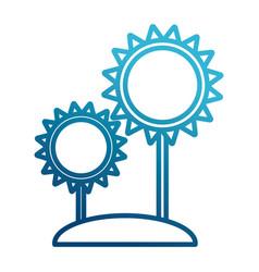 Sunflowers gardening symbol vector