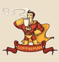 Superhero coffee-man vector