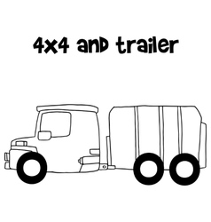 trailer vector image