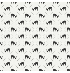 Tribal ethnic seamless pattern with deer Reindeer vector image