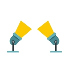 Two spotlights icon in flat style vector image