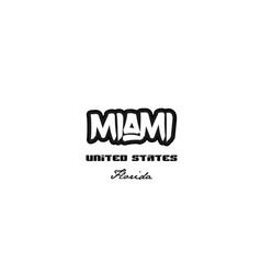 united states miami florida city graffitti font vector image