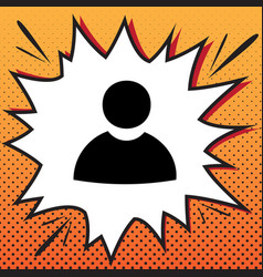 User sign comics style icon vector