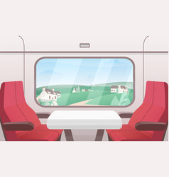 View from train window flat vector