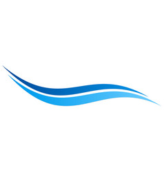 Wave water ocean abstract logo vector