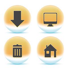 web orange icons vector image