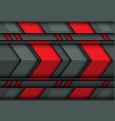 abstract red gray arrow metal 3d design vector image vector image