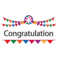Congratulation on white background vector image vector image
