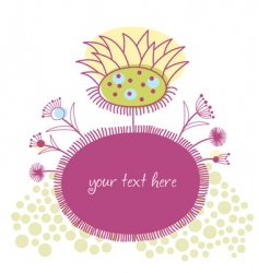 stylized floral frame vector image