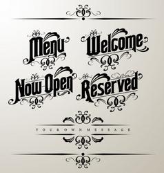 classical restaurant decorativ vector image vector image