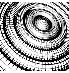 Concentric tubes shaded with grid pattern vector