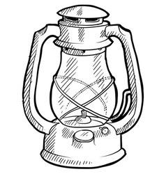 doodle lantern vector image