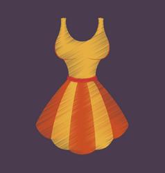 flat shading style icon fluffy dress vector image