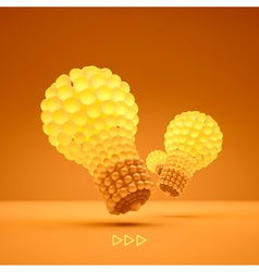 Lightbulb Idea concept 3d vector image