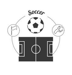 set concept icon soccer sport vector image vector image