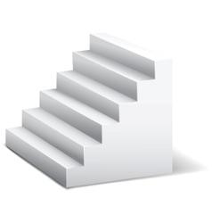 3d stairway vector image vector image
