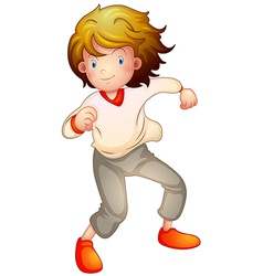 Cartoon boy dancing vector image vector image
