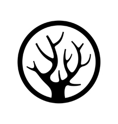 Decorative Simple Tree Logo in the Circle vector image vector image