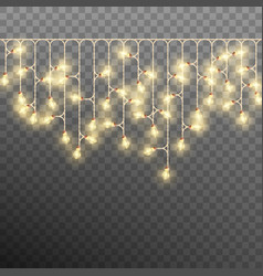 electric decorate christmas tree garland eps 10 vector image