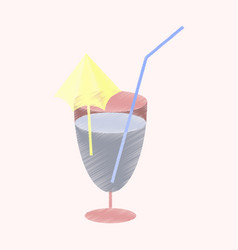 flat shading style icon cocktail vector image