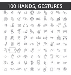 hand gesture touch finger palm handshaking vector image