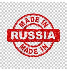 Made in russia red stamp on isolated background vector
