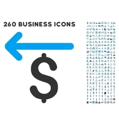 Cashback Icon with Flat Set vector image vector image