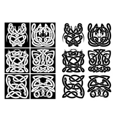 Snakes and reptiles celtic patterns vector image vector image