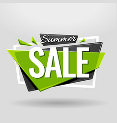 Summer sale geometric banner vector