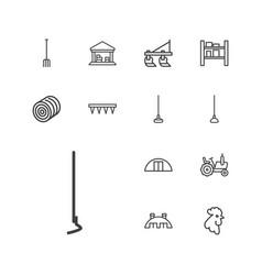 13 farming icons vector