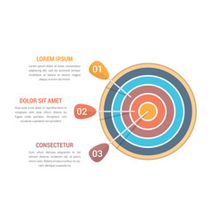 3 steps to goal vector image