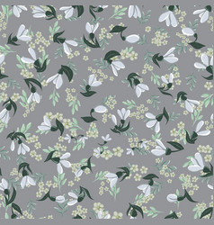 a seamless vintage pattern with harebell flowers vector image