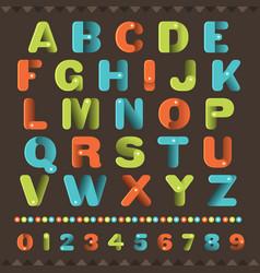 Alphabet master type vector
