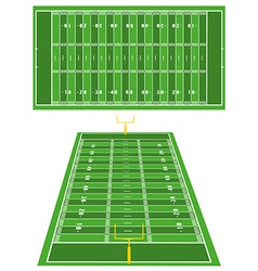 American Football fields vector