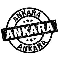 Ankara black round grunge stamp vector