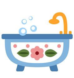 Bathtub flat vector