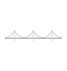 bridge icon in flat design vector image
