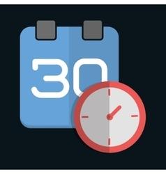 Calendar design Clock and planner icon vector image