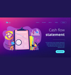 cash flow statement concept landing page vector image