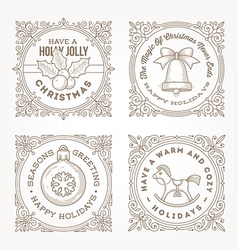 Christmas greetings and symbols vector