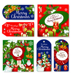 Christmas holidays wish greeting posters vector