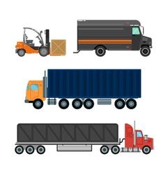 Delivery truck cargo transportation service vector