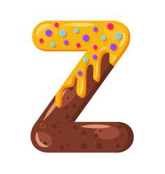 Donut cartoon z letter vector