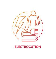 Electrocution concept icon vector