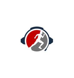 Exercise podcast logo icon design vector