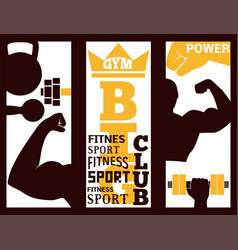 Fitness flayer brochure layout card design gym vector