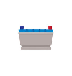 flat car battery icon vector image