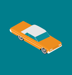 Flat lowrider car icon isometric vector