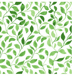 Green leaves classic foliage pattern vector